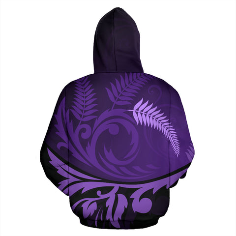 New Zealand Zip Up Hoodie, Silver Fern Zip Up Hoodie - 1st New Zealand