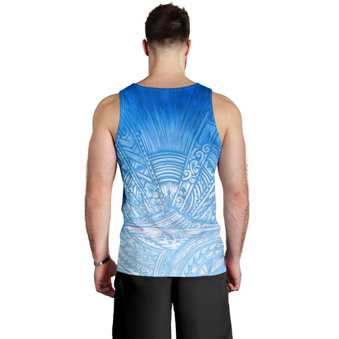 New Zealand Auckland Men Tank Top Blue Rugby K4 - 1st New Zealand