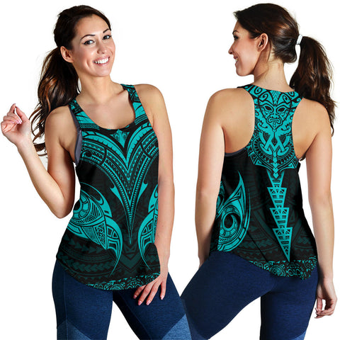New Zealand The Mana Maori Women Racerback Tank Blue TH5 - 1st New Zealand