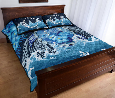 Cook Islands Polynesian Sea Turtle Hibiscus Quilt Bed Set K5 - 1st New Zealand