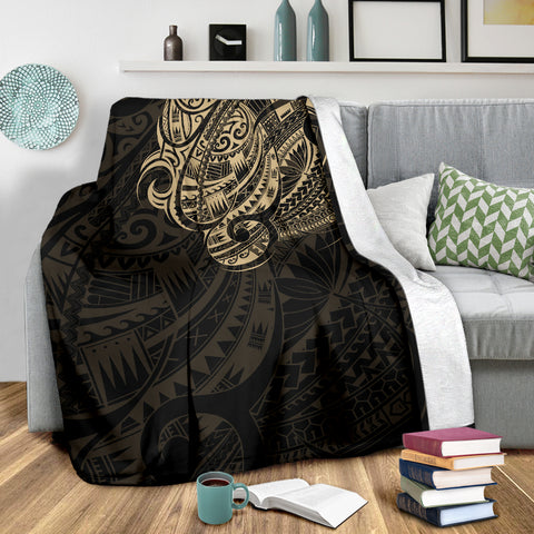 Maori Tattoo Style Premium Blanket - Golden Version A74 - 1st New Zealand