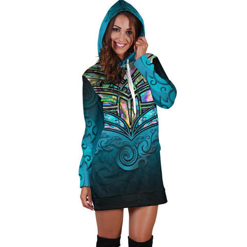New Zealand Warriors Hoodie Dress Paua Shell K4 - 1st New Zealand