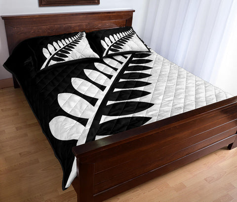 New Zealand Flag White and Black Fern Quilt Bedding Sets K54 - 1st New Zealand