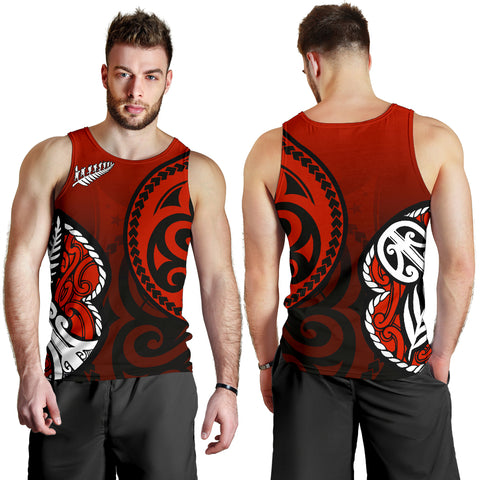 Lest We Forget - Maori Poppy Pullover Tank Tops For Men Th00 - 1st New Zealand