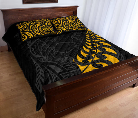 New Zealand Maori Lion Rugby Quilt Bed Set K5 - 1st New Zealand