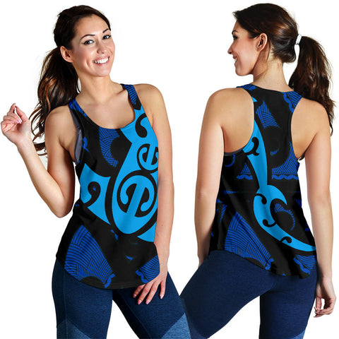 Maori Blue Mangopare Women's Racerback Tank Th00 - 1st New Zealand