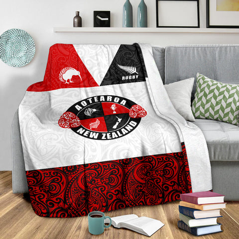 Rugby New Zealand Aotearoa Rugby Champion Premium Blanket K4