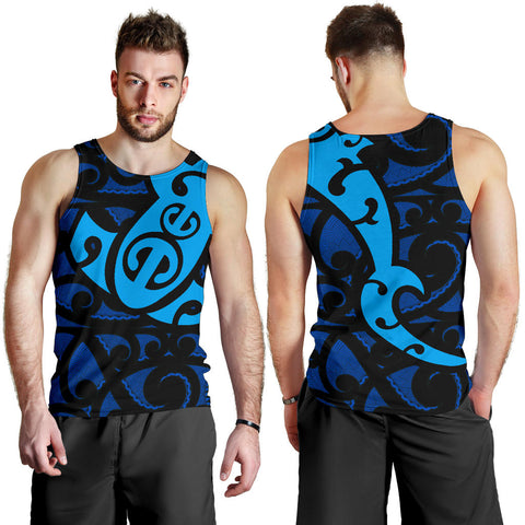 Maori Blue Mangopare Men's Tank Th00 - 1st New Zealand