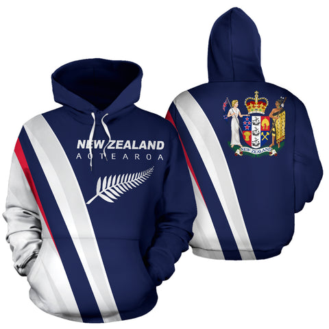New Zealand Hoodie - Special Version by 1sttheworld for Men and Women
