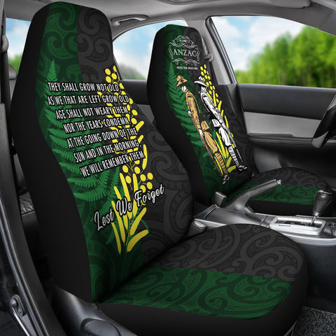 Anzac Spirit, Lest We Forget Car Seat Covers K5 - 1st New Zealand