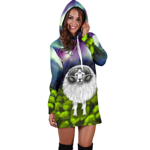 Image of New Zealand Sheep Hoodie Dress Southern Lights K4 - 1st New Zealand