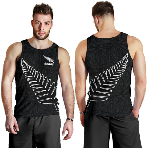New Zealand Silver Fern Tank Tops, Maori Tattoo Sleeveless Shirts K4 - 1st New Zealand