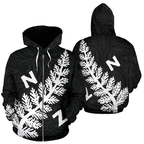 New Zealand Silver Fern 1921 Zip Up Hoodie K4 - 1st New Zealand