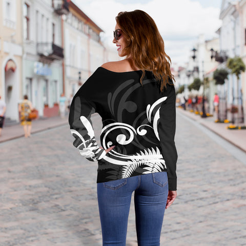 Image of Silver Fern New Zealand™ Off Shoulder Sweater K5 - 1st New Zealand