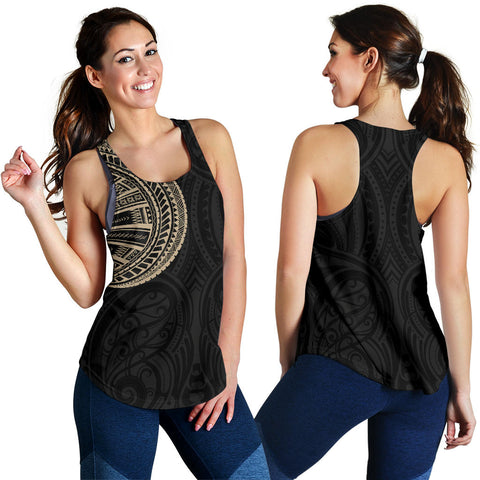 Samoa Tribal Maori Tattoo Roman Reigns Women Racerback Tank Gold TH75 - 1st New Zealand