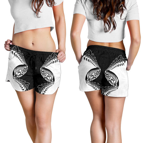 Image of Rugby Fern Women Shorts K413 - 1st New Zealand
