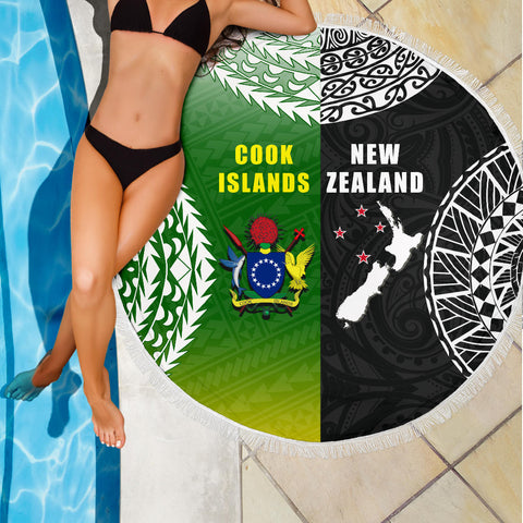 Image of New Zealand Cook Islands Beach Blanket K4 Front 3