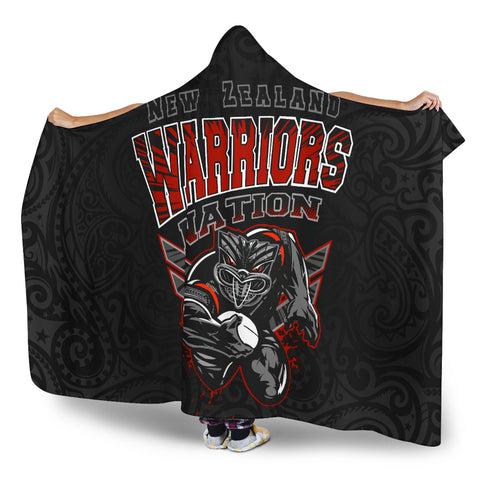 New Zealand Warriors Hooded Blanket Unique Style K4