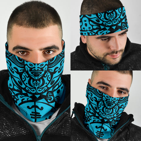 Image of New Zealand Maori Tangaroa Tattoo Bandana - Blue K5 - 1st New Zealand