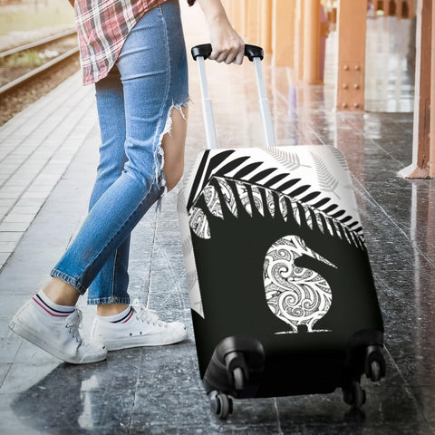 New Zealand Luggage Cover, Kiwi Silver Fern Suitcase Covers TH1 - 1st New Zealand