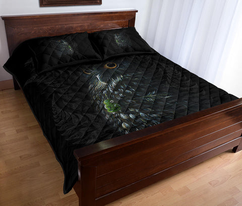 Image of Maori Morepork Quilt Bed Set K5 - 1st New Zealand