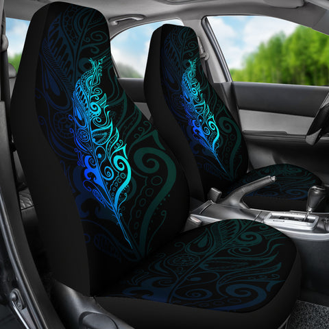 New Zealand Maori Silver Fern Car Seat Covers, Blue K5 - 1st New Zealand