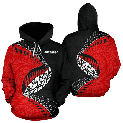 Image of Aotearoa Rugby Fern Hoodie K4 - 1st New Zealand