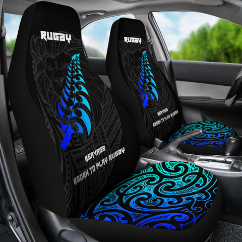 Image of New Zealand Maori Rugby Lion Koru Silver Fern Car Seat Covers K5 - 1st New Zealand
