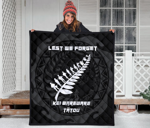 Anzac Tattoo New Zealand, Lest We Forget Premium Quilt K5