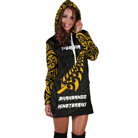 Image of Maori Lion Rugby Hoodie Dress - Custom Personalized K5 - 1st New Zealand