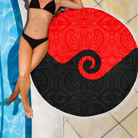 Koru New Zealand Beach Blanket K4 Front 3
