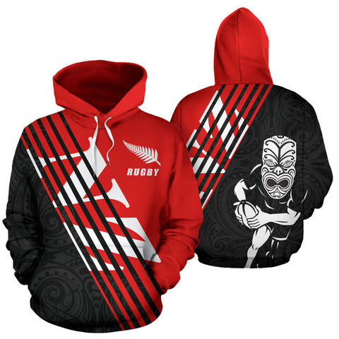 Rugby LifeStyle Unisex Hoodie New Zealand - Front and Back