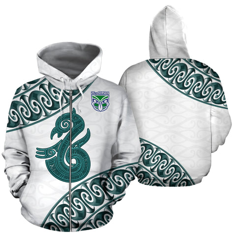 Manaia Warrior Zip-Up Hoodie TH0 - 1st New Zealand