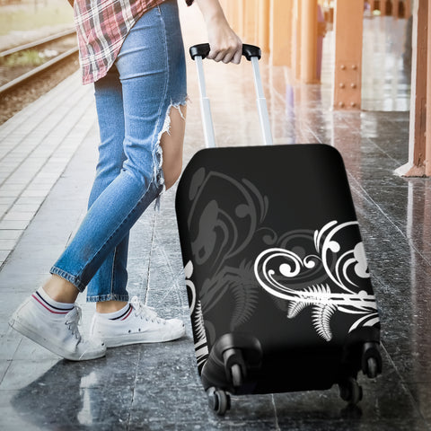 Silver Fern New Zealand Luggage Cover - Black L15 - 1st New Zealand