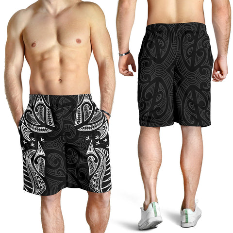 New Zealand Maori Tattoo, Ta Moko Men Shorts - White K5