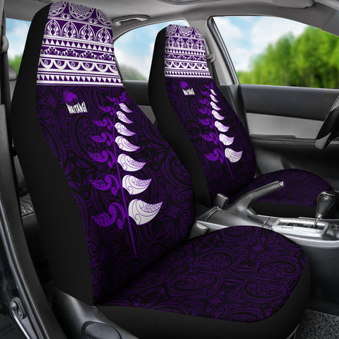New Zealand Maori Silver Fern Car Seat CoversK47 - 1st New Zealand