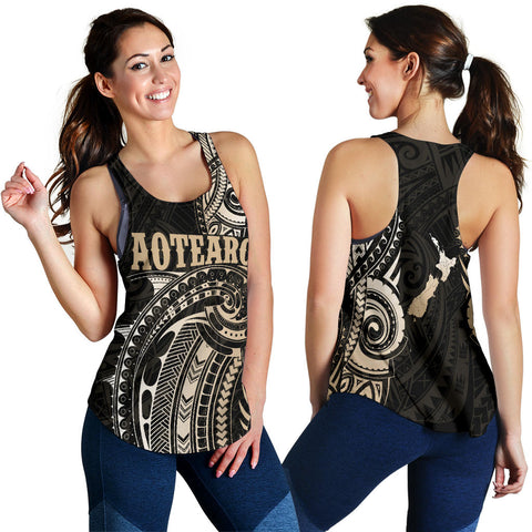 New Zealand Maori Tattoo Racerback Tanks K4 - 1st New Zealand