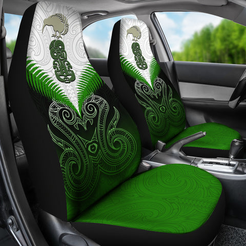 Image of Maori Manaia Car Seat Covers Green K4 - 1st New Zealand
