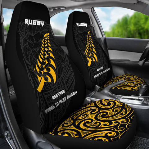 Image of New Zealand Maori Lion Rugby Car Seat Covers K5 - 1st New Zealand