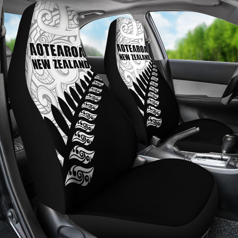 New Zealand Aotearoa Koru Silver Fern Car Seat Covers A6 - 1st New Zealand