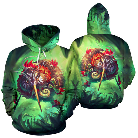 New Zealand Kiwi Cool Hoodie front and back