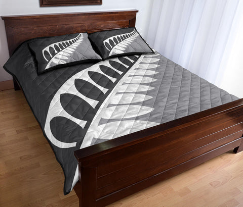 New Zealand Flag Silver Fern Black and Silver Quilt Bedding Sets K5 - 1st New Zealand