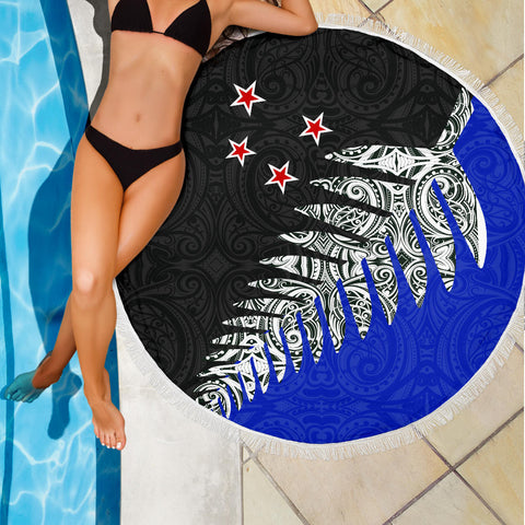 Beach Blanket NZ Silver Fern Blue K4 - 1st New Zealand