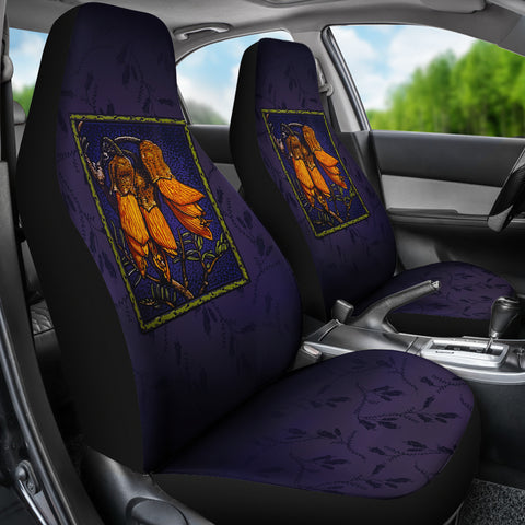 New Zealand Kowhai Flower Car Seat Covers K4 - 1st New Zealand