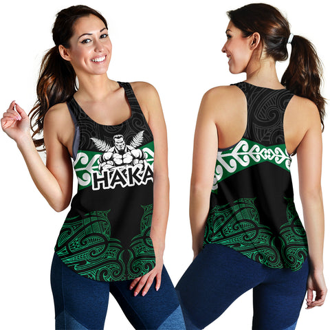 New Zealand Koru Fern Flag Haka Maori Racerbacks Th00 - 1st New Zealand