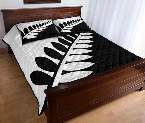 New Zealand Flag Silver Fern Black and White Quilt Bedding Sets K5 - 1st New Zealand