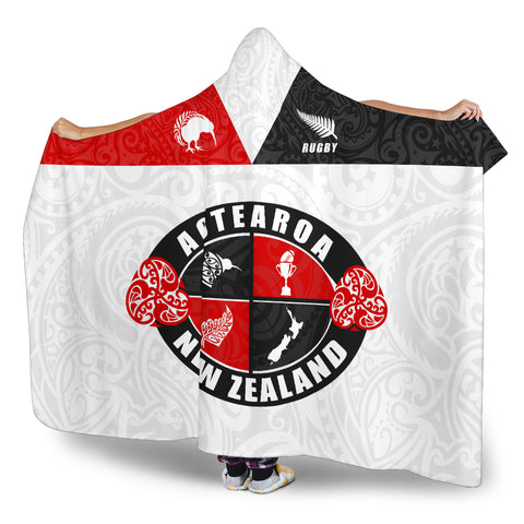New Zealand Aotearoa Rugby Champion Hooded Blanket K24
