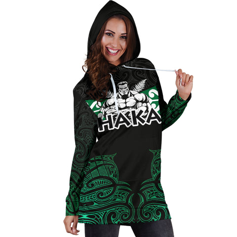 Aotearoa Rugby Women's Hoodie Dress - Kia Kaha Stay Strong Th00 - 1st New Zealand