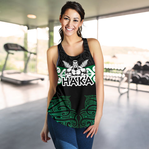 Image of Aotearoa Rugby Women's Racerback Tank - Kia Kaha Stay Strong Th00 - 1st New Zealand