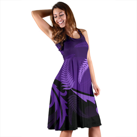 Silver Fern Women Midi Dress Purple - 1st New Zealand